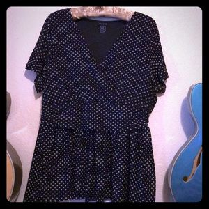 Polka Dot Blouse Retro 50's Pin Up